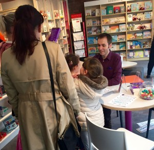 Signing Copies in the Bookshop