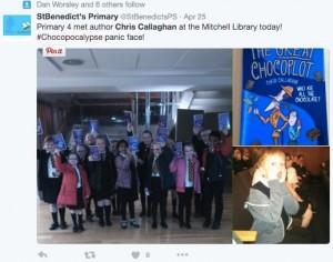 St Benedict's Primary School came to visit!
